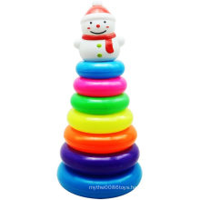 Snow Man Retaining Ring Christmas Folding Jenga Toy Gift